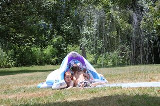 Slip and Slide at Granddaddy and Grandma's 054